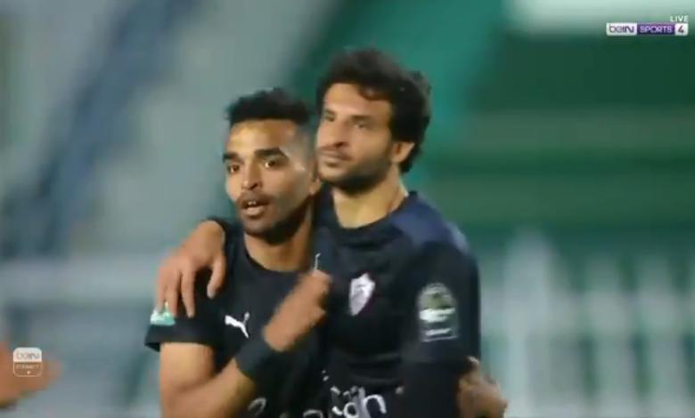 هدف الزمالك الاول في مرمى مولودية الجزائر 1-0 تعليق عصام الشوالي