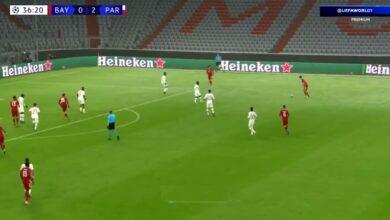 هدف بايرن ميونخ الأول باريس سان جيرمان 2-1 دوري ابطال اوروبا