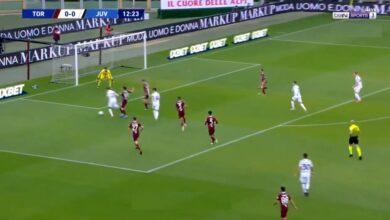 اهداف مباراة يوفنتوس وتورينو 2-2 الدوري الايطالي