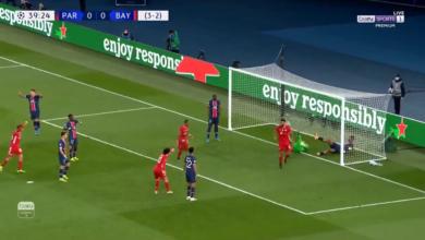 هدف بايرن ميونخ الاول في مرمى باريس سان جيرمان 1-0 دوري أبطال أوروبا