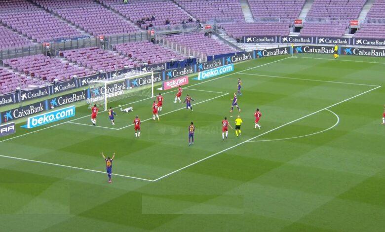 هدف برشلونة الاول في مرمى غرناطة 1-0 الدوري الاسباني
