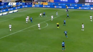 اهداف مباراة انتر ميلان وكالياري 1-0 الدوري الايطالي