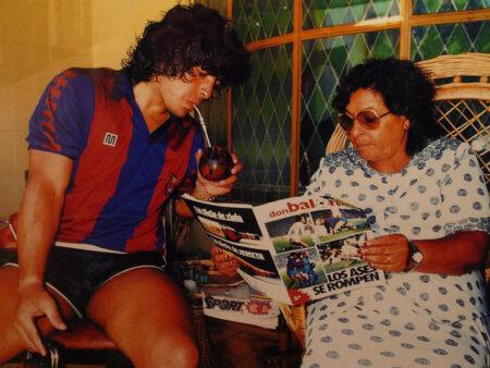مارادونا ووالدته