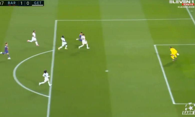 هدف ميسي الاول في مرمى خيتافي 1-0 الدوري الاسباني