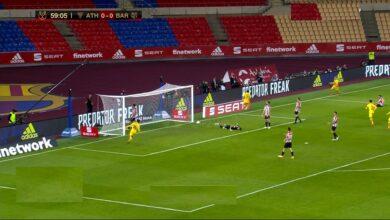 هدف برشلونة الاول في مرمى اتليتك بلباو 1-0 كأس الملك