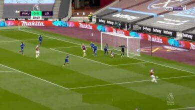 اهداف مباراة وست هام يونايتد وليستر سيتي 3-1 الدوري الانجليزي