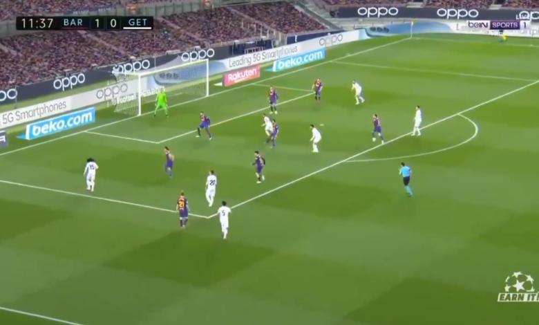 ملخص مباراة برشلونة وخيتافي في الدوري الاسباني