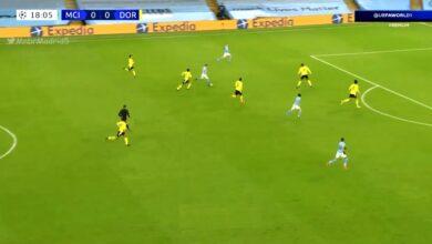 هدف كيفين دي بروين في مرمى دورتموند 1-0 دوري ابطال اوروبا