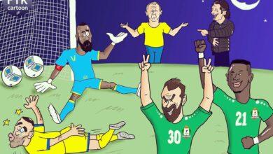 كاريكاتير مباراة النصر و lلوحدات