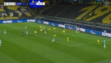 هدف مانشستر سيتي الثاني في مرمى بوروسيا دورتموند 2-1 دوري ابطال اوروبا