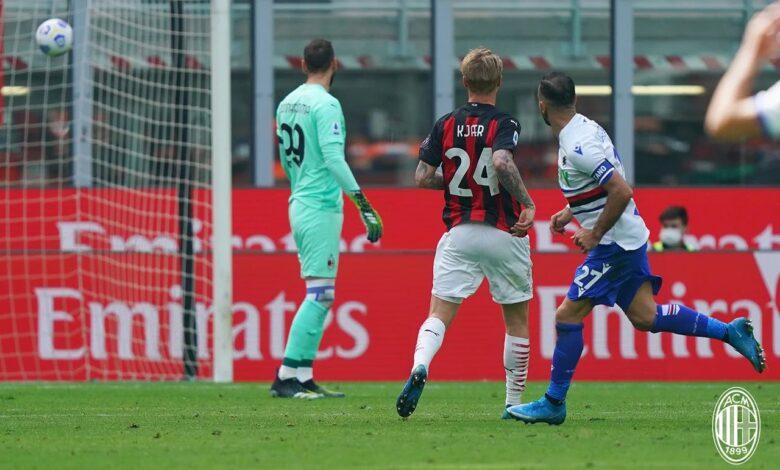 اهداف مباراة ميلان وسامبدوريا 1-1 الدوري الايطالي