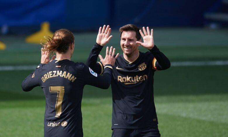 هدف جريزمان الثاني في مرمى فياريال 2-1 الدوري الاسباني