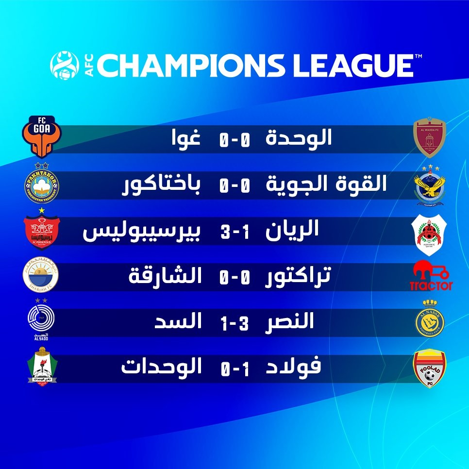 نتائج مباريات أمس السبت 17 أبريل في جميع البطولات