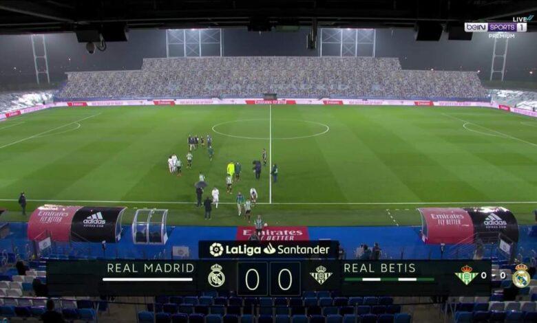 ملخص مباراة ريال مدريد وريال بيتيس في الدوري الاسباني