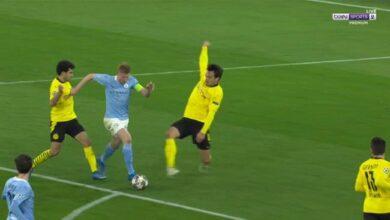 اهداف مباراة مانشستر سيتي وبوروسيا دورتموند 2-1 دوري ابطال اوروبا