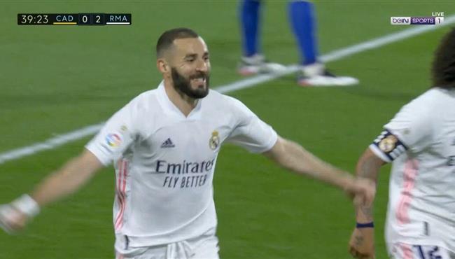 اهداف مباراة ريال مدريد وقاديش 3-0 الدوري الاسباني