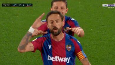 ملخص مباراة برشلونة وليفانتي في الدوري الاسباني