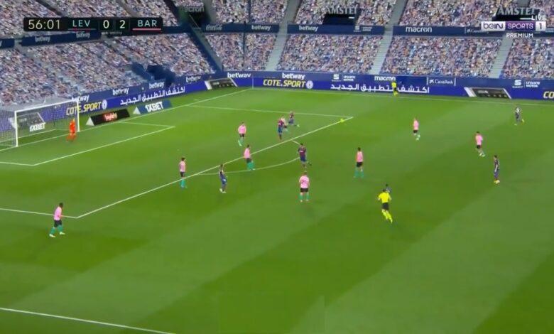 هدف ليفانتي الأول في مرمى برشلونة 2-1 الدوري الاسباني