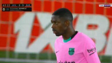هدف عثمان ديمبلي في مرمى ليفانتي 3-2 الدوري الاسباني
