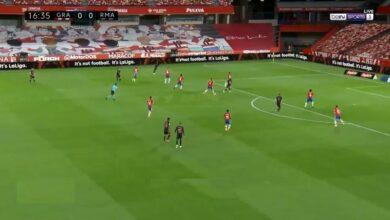 هدف لوكا مودريتش في مرمى غرناطة 1-0 الدوري الاسباني
