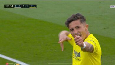 هدف فياريال الاول في مرمى ريال مدريد 1-0 تعليق حفيظ دراجي