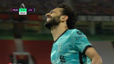 هدف محمد صلاح القاتل في مرمى مانشستر يونايتد
