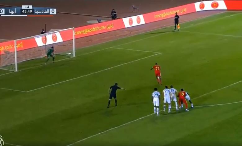 اهداف مباراة القادسية وأبها 1-1 الدوري السعودي