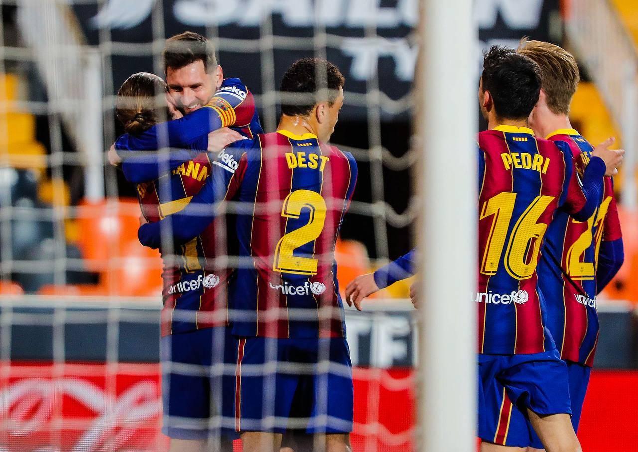 برشلونة بعد الفوز على خيتافي
