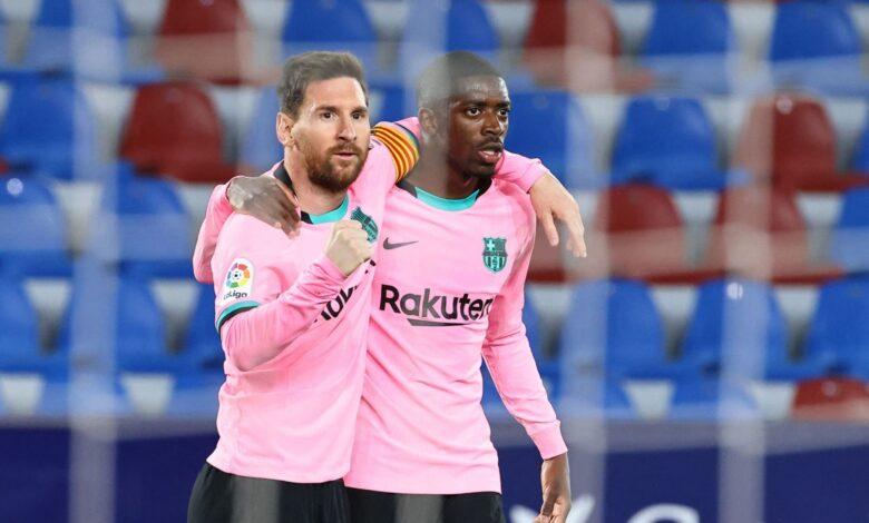 هدف ميسي الاول في مرمى ليفانتي 1-0 الدوري الاسباني