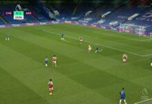 هدف آرسنال الأول في مرمى تشيلسي 1-0 الدوري الانجليزي