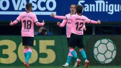 اهداف مباراة برشلونة وايبار 1-0 الدوري الاسباني