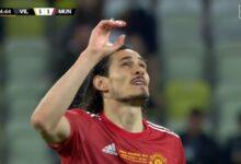 هدف كافاني في مرمى فياريال 1-1 الدوري الاوروبي