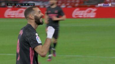 اهداف مباراة ريال مدريد وغرناطة 4-1 الدوري الاسباني