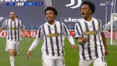 اهداف مباراة يوفنتوس وانتر ميلان 3-2 الدوري الايطالي