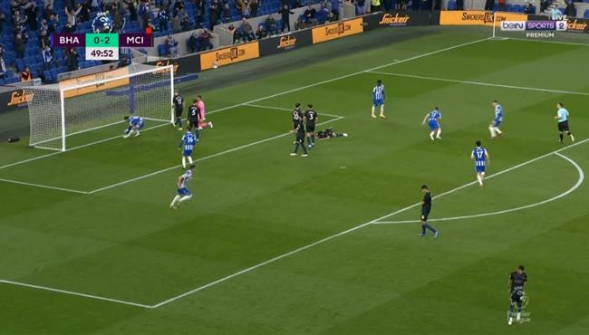 اهداف مباراة مانشستر سيتي وبرايتون 3-2 الدوري الانجليزي