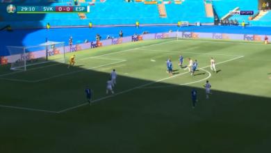 هدف كارثي في مباراة اسبانيا وسلوفاكيا في يورو 2020