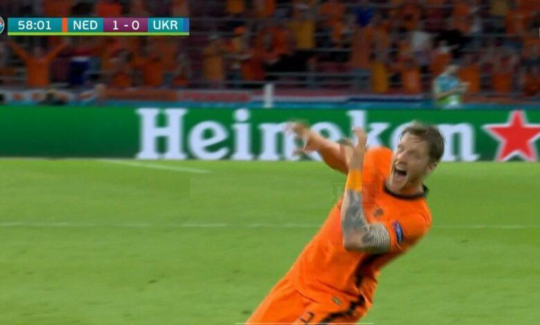 هدف هولندا الثاني في مرمى اوكرانيا 2-0 يورو 2020