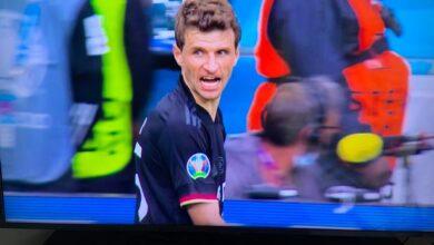 رد فعل توماس مولر عقب إستبداله أمام إنجلترا
