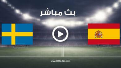 مشاهدة مباراة إسبانيا والسويد