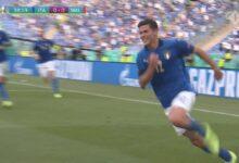 هدف ايطاليا الاول في مرمى ويلز 1-0 يورو 2020
