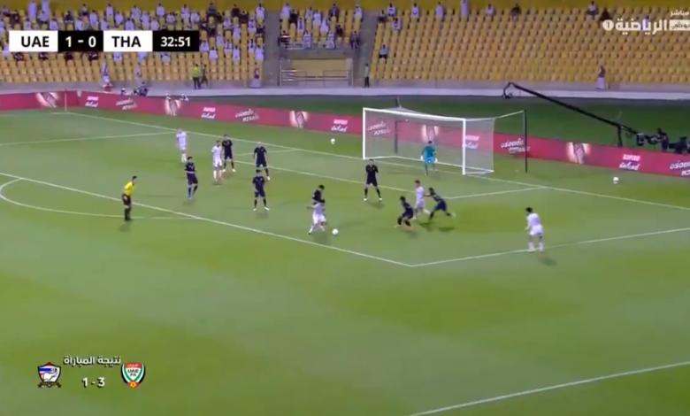 اهداف مباراة الإمارات وتايلاند 3-1 تصفيات آسيا وكأس العالم