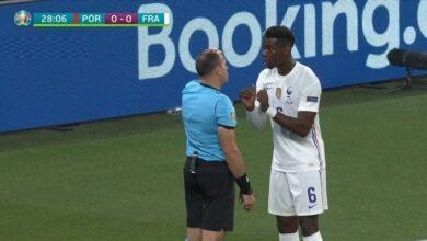 هدف كريستيانو رونالدو في مرمى فرنسا 1-0 يورو 2020