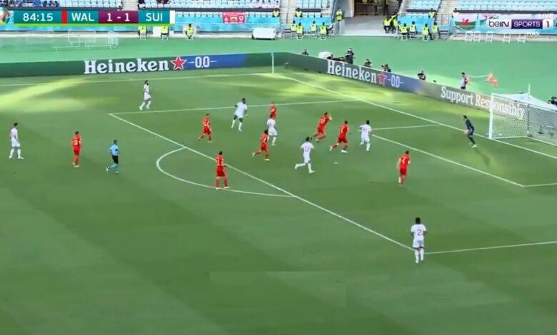 هدف تعادل ويلز أمام سويسرا 1-1 يورو 2020