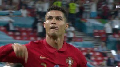 هدف كريستيانو رونالدو الثاني في مرمى فرنسا 2-2 يورو 2020