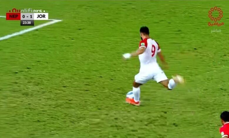 أهداف مباراة الأردن والنيبال 3-0 تصفيات آسيا وكأس العالم