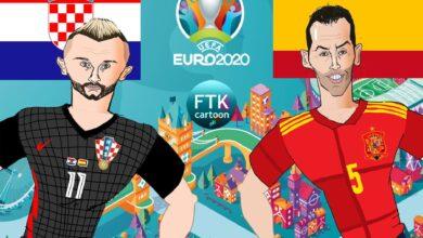 مباراة كرواتيا وإسبانيا