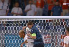 هدف ايطاليا الاول الملغي في مرمى سويسرا 1-0 يورو 2020