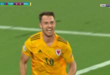 هدف ويلز الاول في مرمى تركيا 1-0 أسيست جاريث بيل