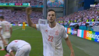 هدف اسبانيا الاول في مرمى كرواتيا 1-1 يورو 2020