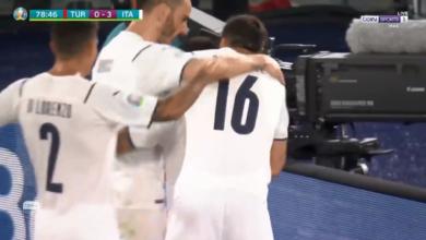 هدف ايطاليا الثالث في مرمى تركيا 3-0 يورو 2020